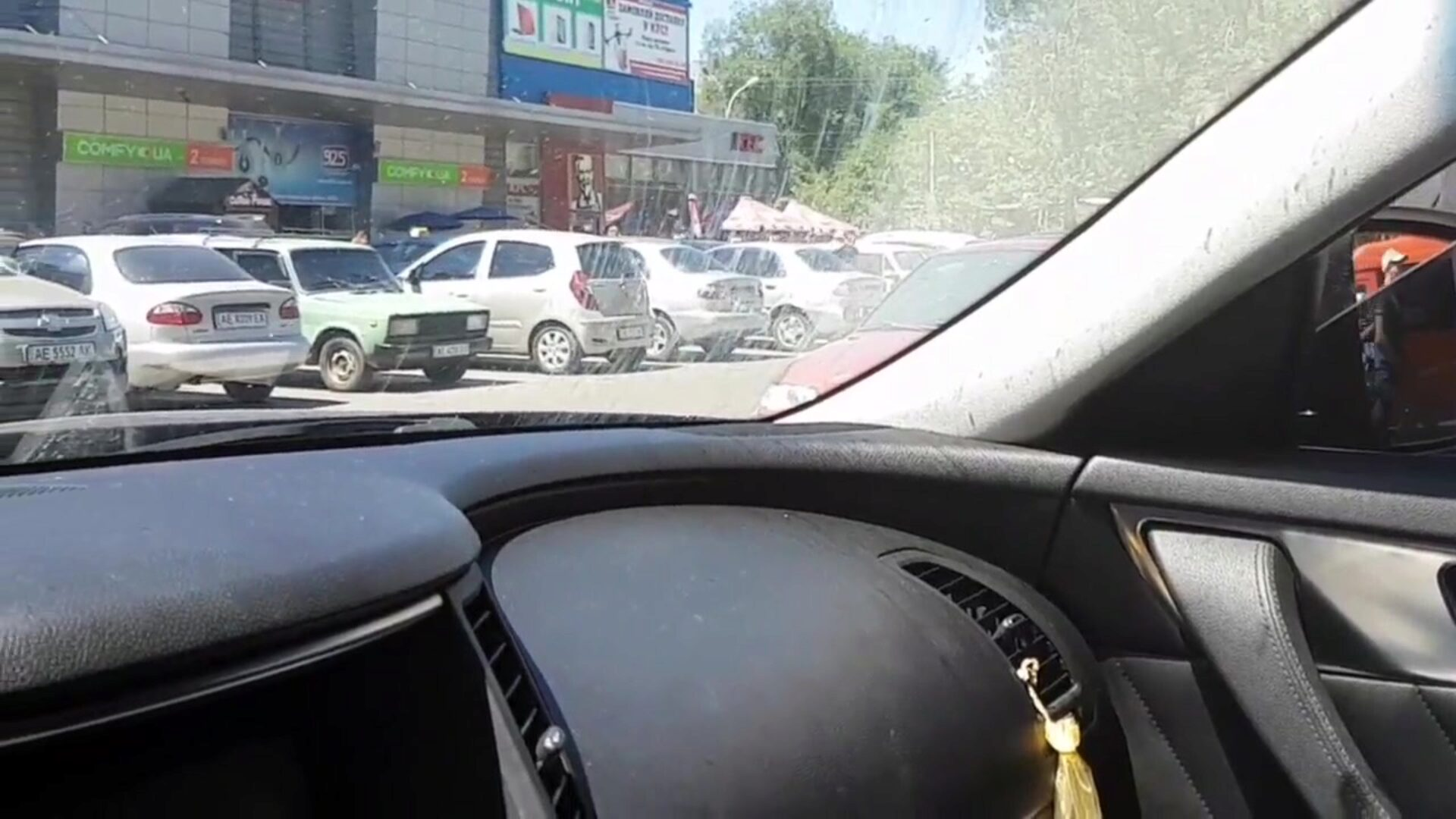 Public oral with jism swallowed and naughty chatting at the parking