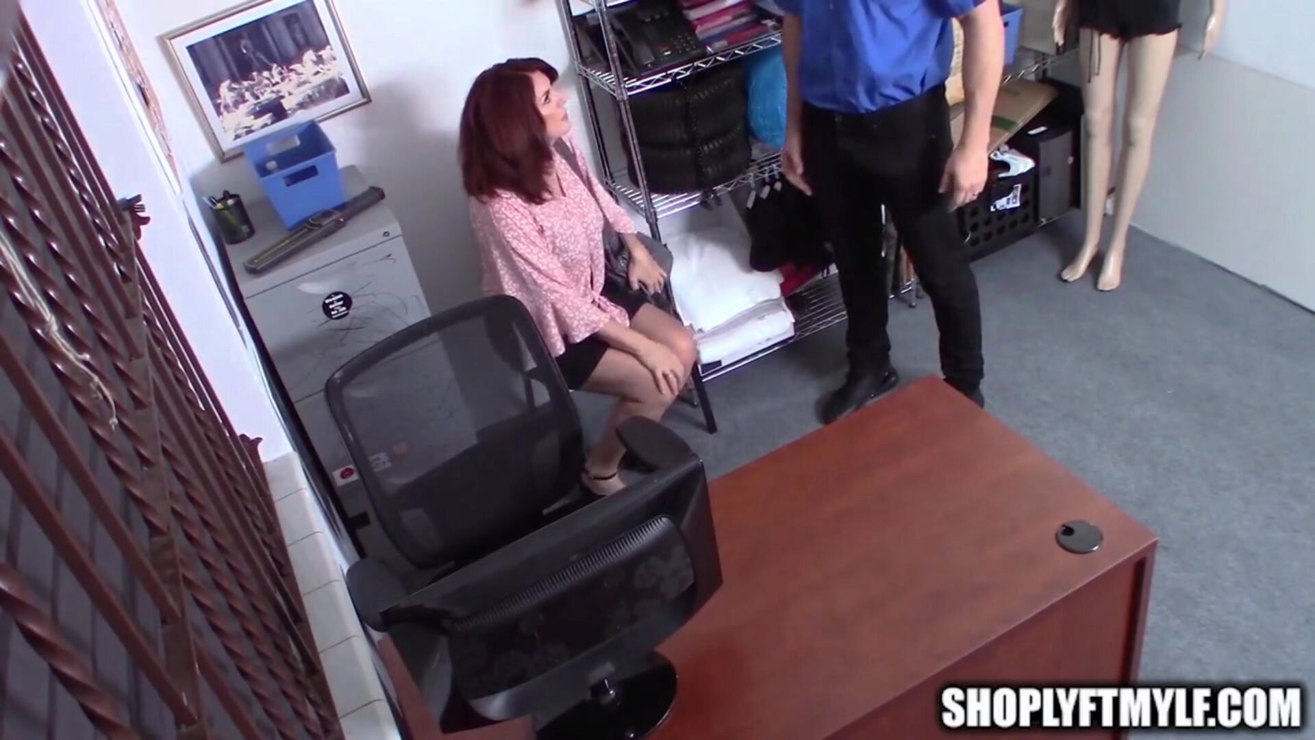 Big Tit Mature MILF Caught Shoplifting Fucks Security Guard Mature brunette MILF with large whoppers acquires caught stealing and this babe deepthroats and fucks the security guard so that babe doesnt have to go to jail