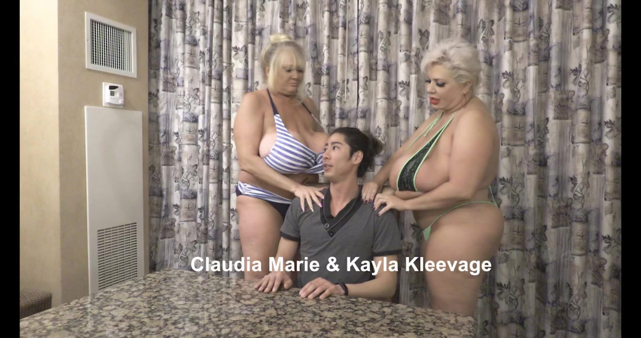 Boy Fucks Saggy Tit Fat Ass Prostitutes Kayla Kleevage and Claudia Marie pumped rock-hard by a young guy