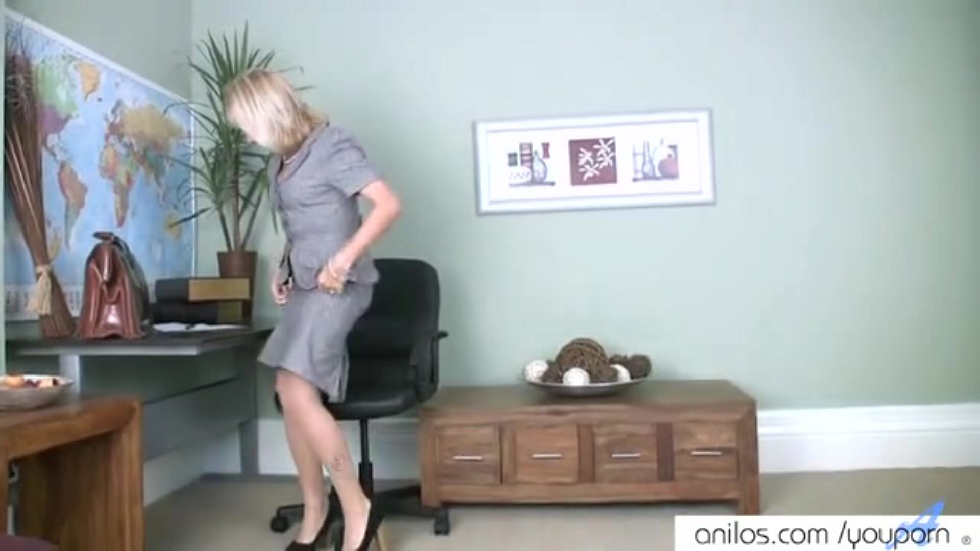 Mature mamma 1st naughty movie scene See this older milf do her highly 1st nasty movie scene and finger tear up her hairless snatch to orgasm in her office
