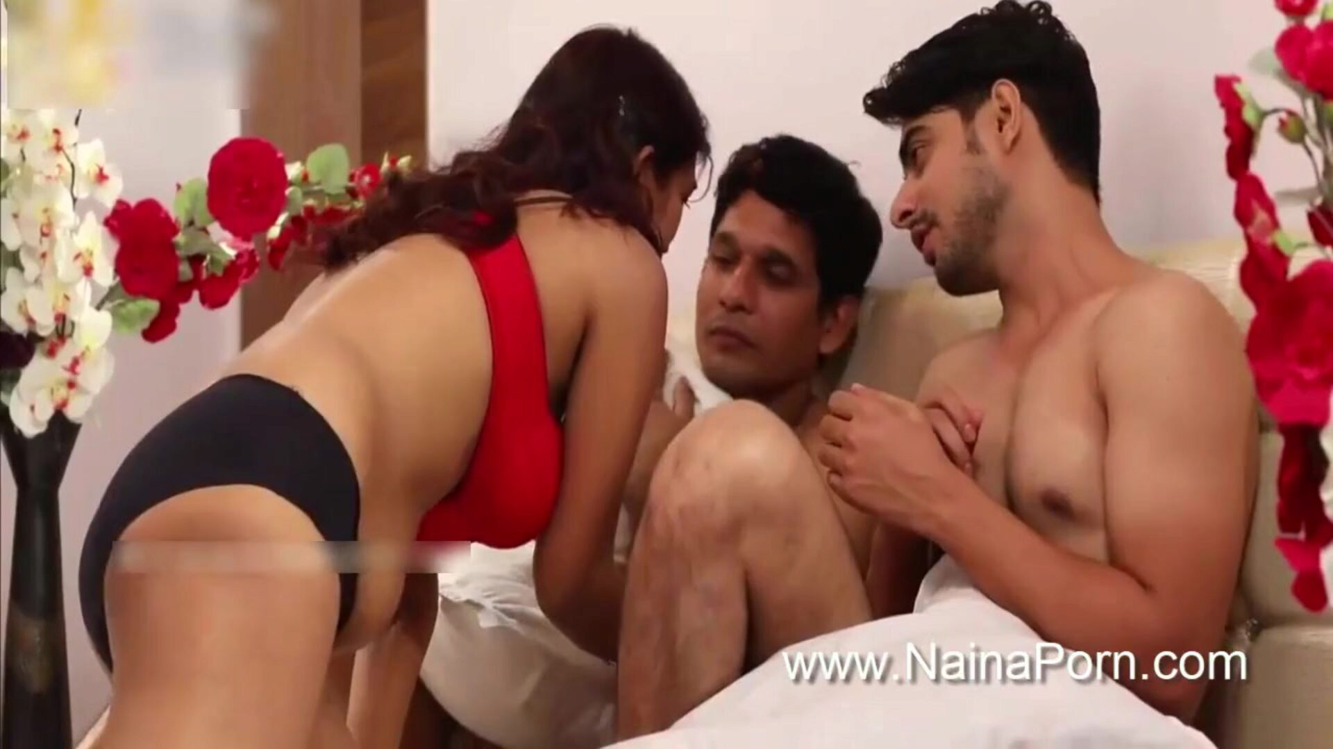 Indian desi web series hot unsatisfied wifey pumped three-some