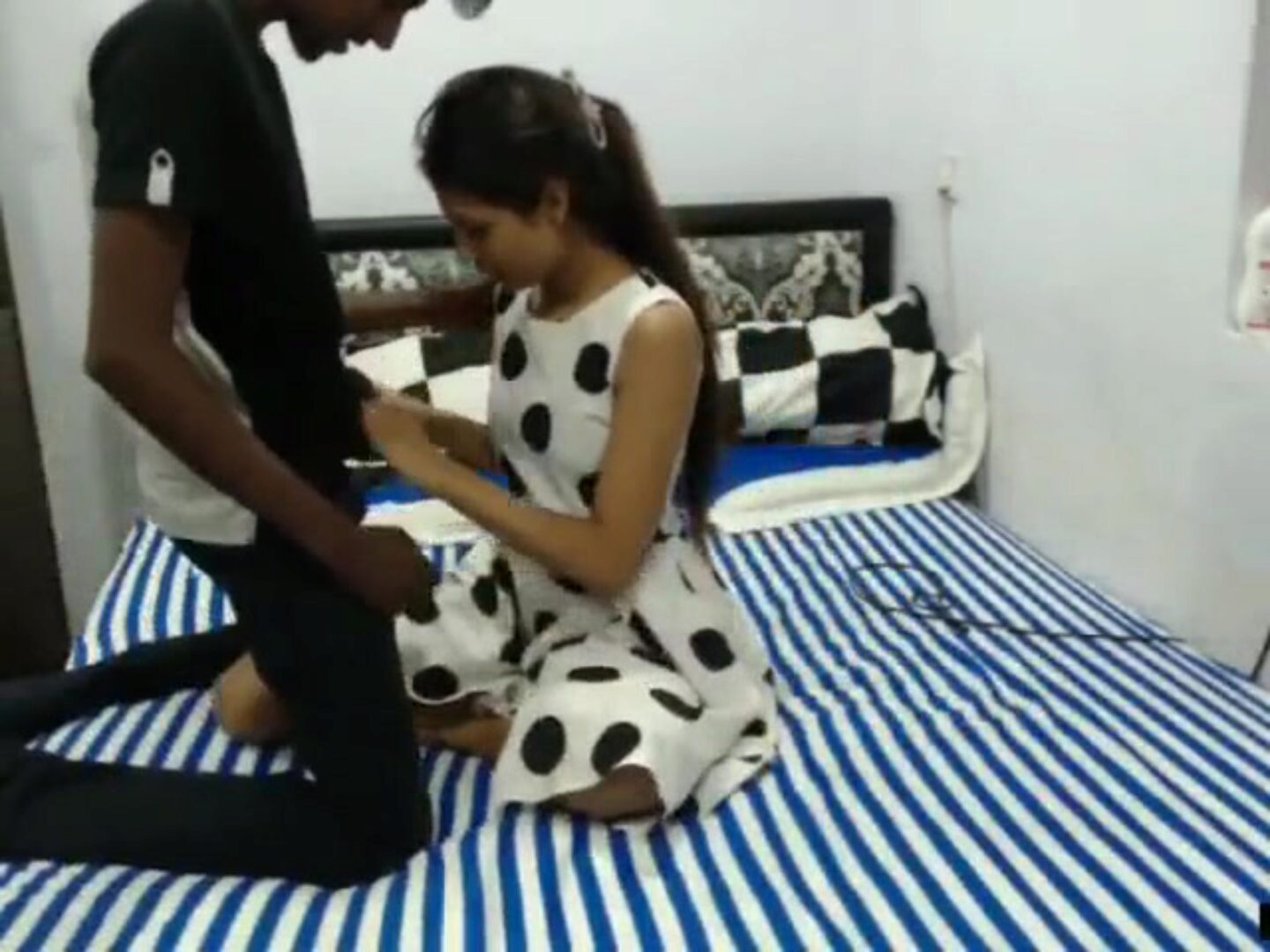 Beautiful Indian Teen Fucks Two Guys Beauty india teen banging two lads on the bed