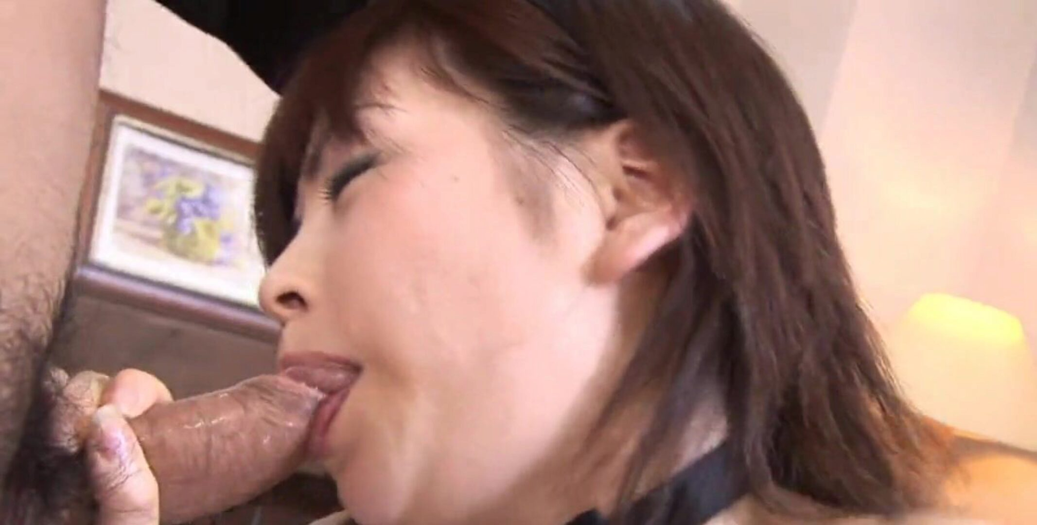 Japanese slut Ran Monbu had a trio uncensored