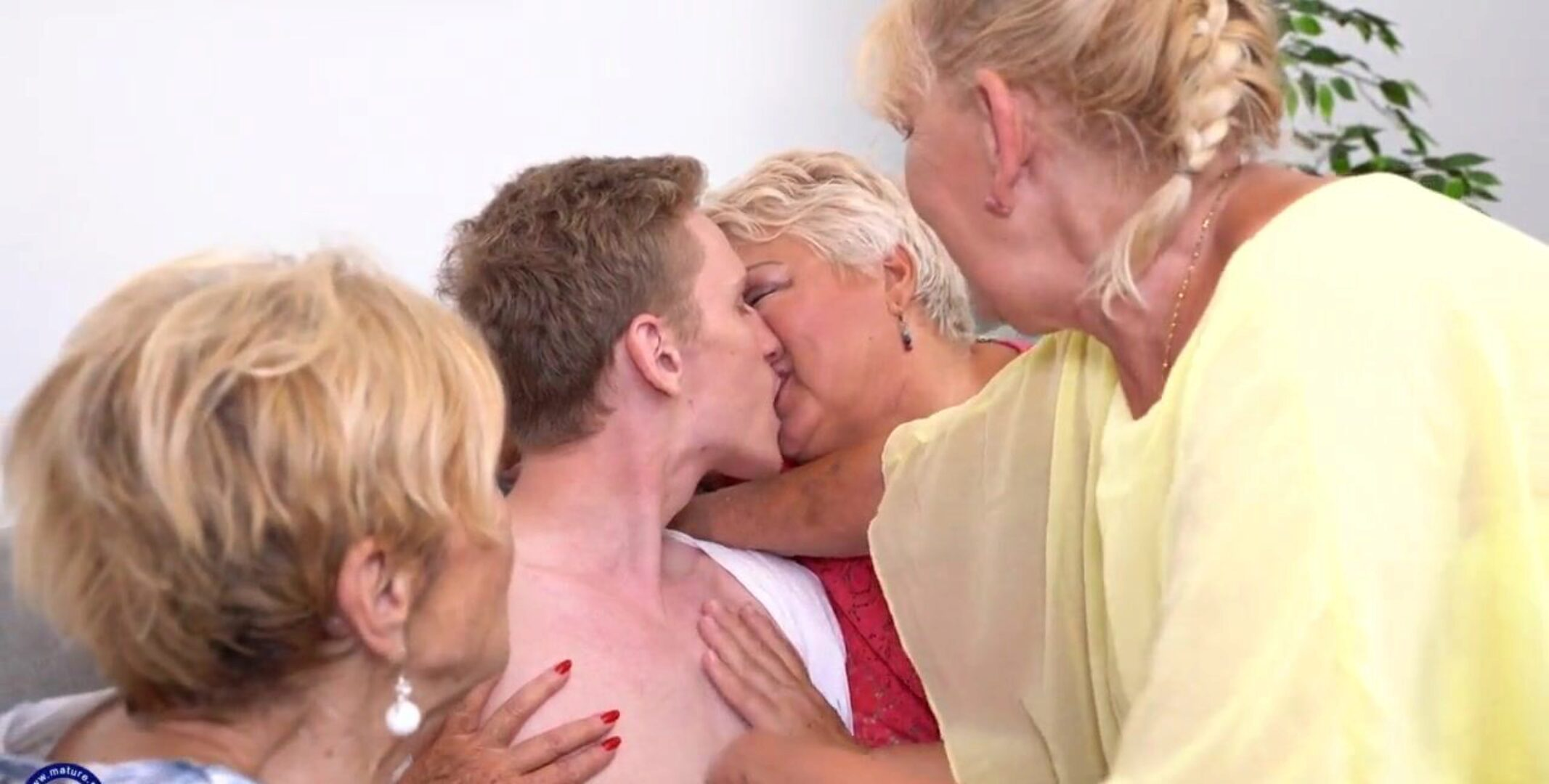 One Lucky Boy Fucked By Three Grannies